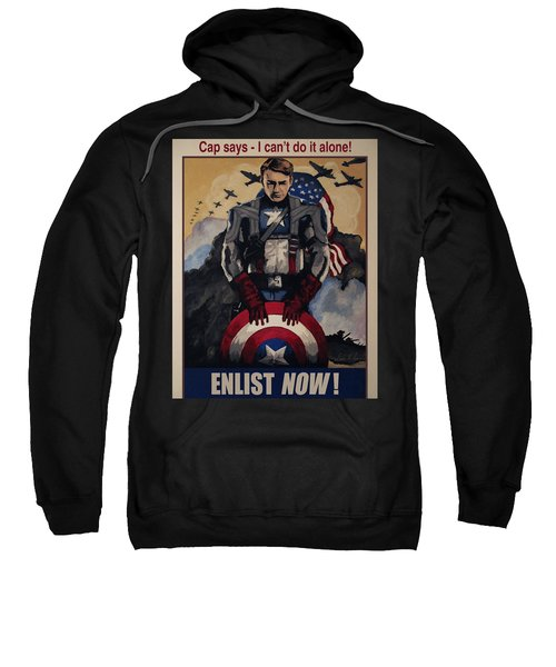 Captain America Recruiting Poster Sweatshirt