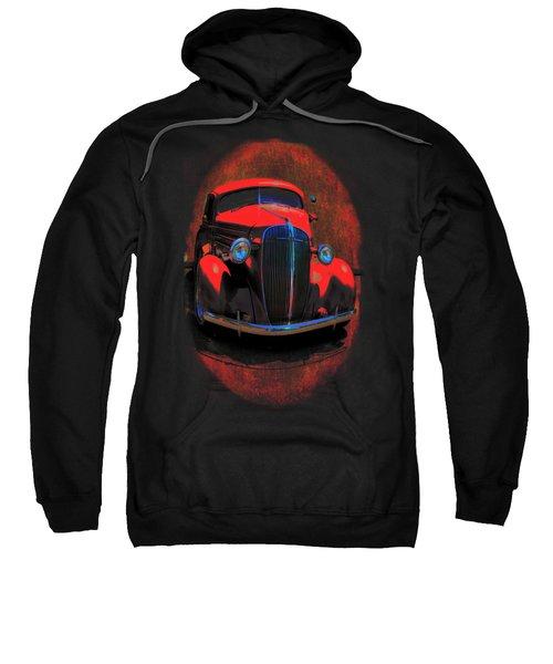 Car Art 0443 Red Oval Sweatshirt