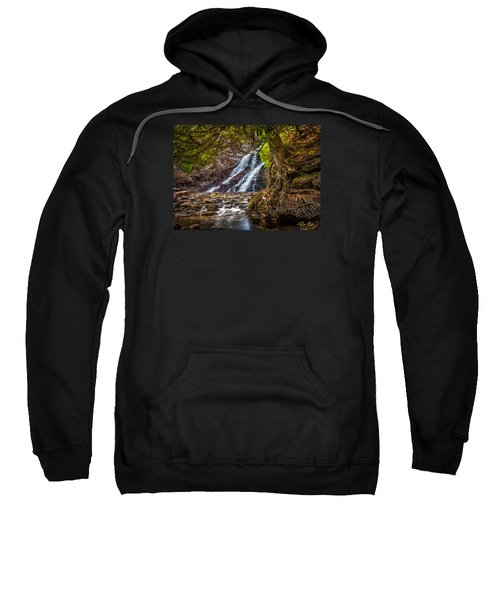 Sweatshirt featuring the photograph Caribou Falls In Fall by Rikk Flohr