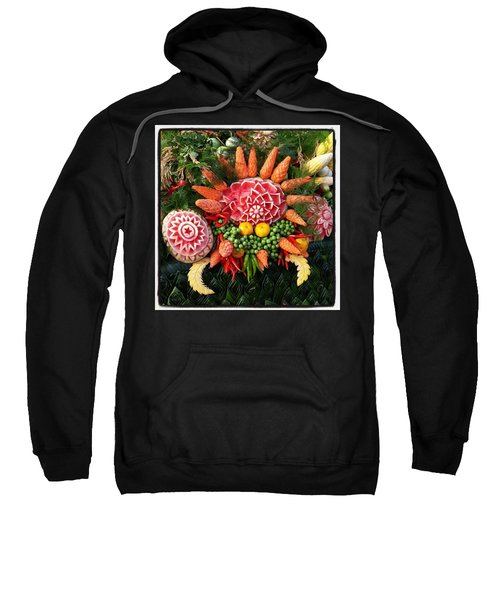 Sweatshirt featuring the photograph Carved Watermelon, And I Think Those by Mr Photojimsf