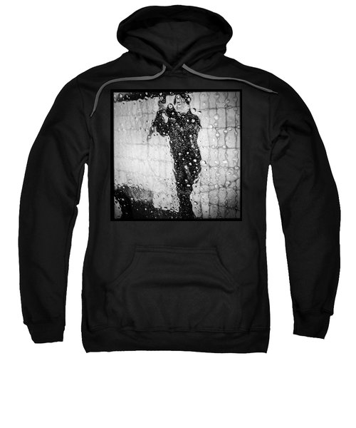 Carwash Cool Black And White Abstract Sweatshirt