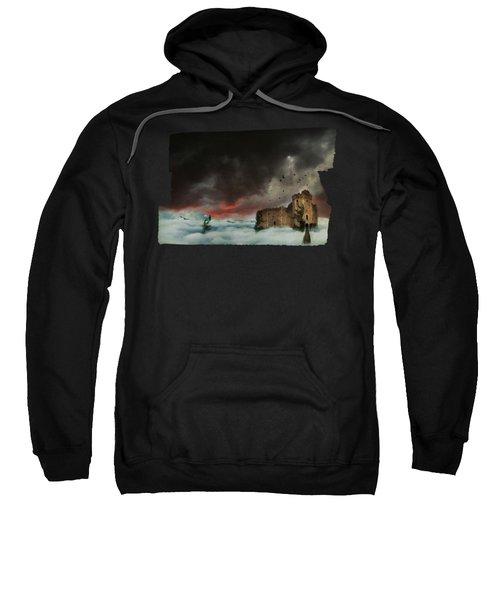 Castle In The Clouds Sweatshirt by Terry Fleckney