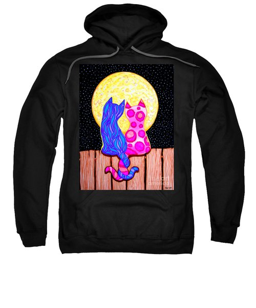 Cat Couple Full Moon Sweatshirt