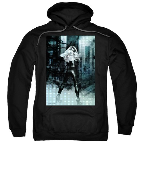 Cat Girl Comic Like Pinup Sweatshirt