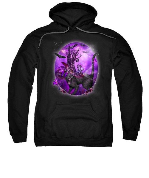 Cat In Goth Witch Hat Sweatshirt
