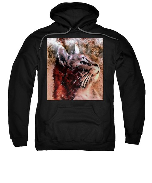 Cat Watching Falling Rain Sweatshirt
