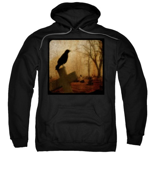 Cawing Night Crow Sweatshirt