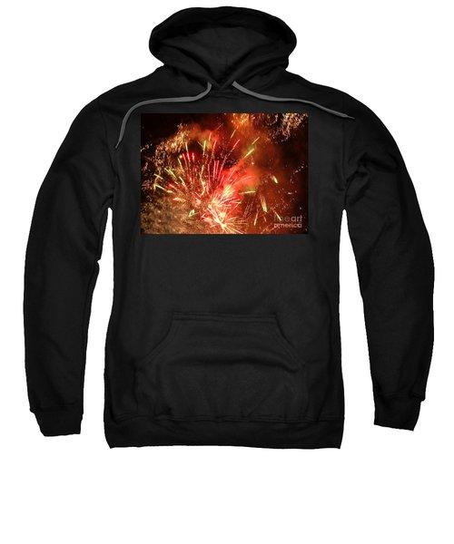 Celebratory Fireworks And Firecrackers Light Up The Sky Sweatshirt