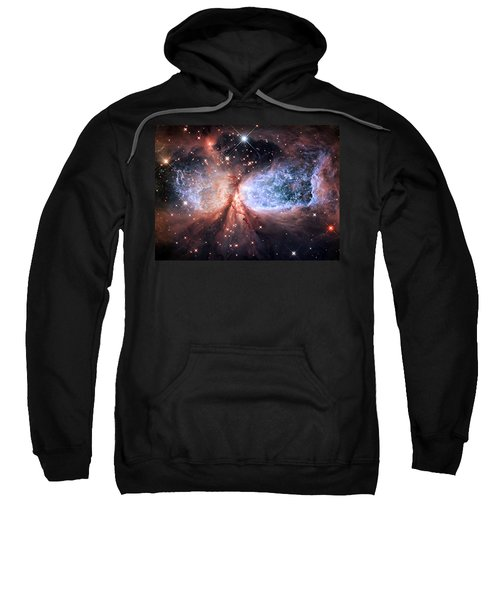 Sweatshirt featuring the photograph Celestial Snow Angel - Enhanced - Sharpless 2-106 by Adam Romanowicz