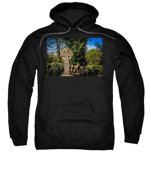Sweatshirt featuring the photograph Celtic Knots Decorate A Celtic Cross by James Truett