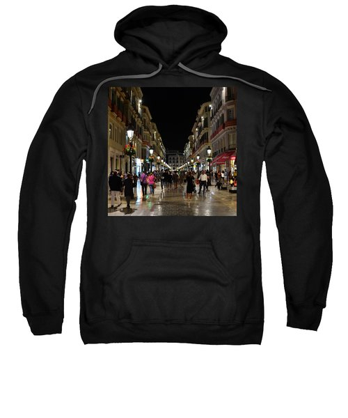 Centro De Malaga By Night - #ig_malaga Sweatshirt
