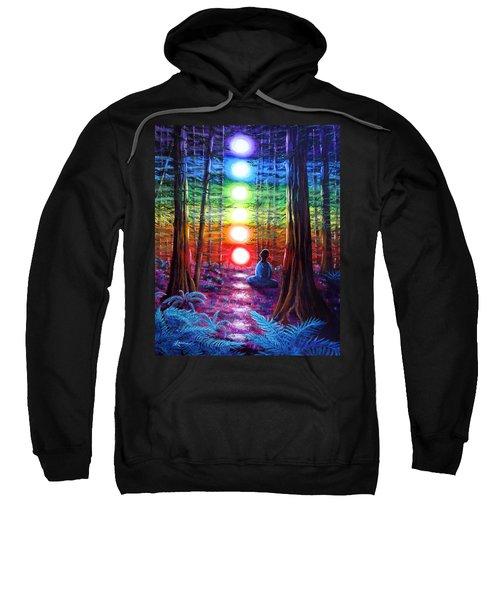 Chakra Meditation In The Redwoods Sweatshirt