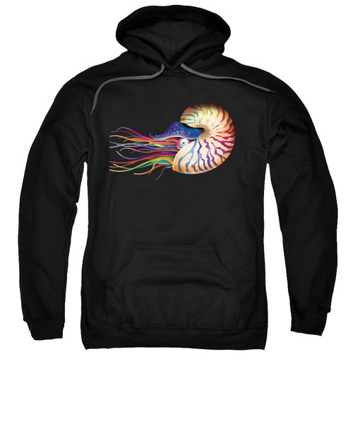 Chambered Nautilus On White Sweatshirt