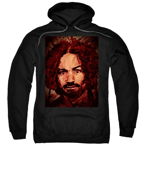 Charles Manson Portrait Fresh Blood Sweatshirt
