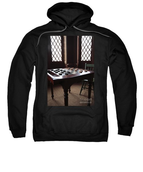 Checkers Table At The Lincoln Cottage In Washington Dc Sweatshirt
