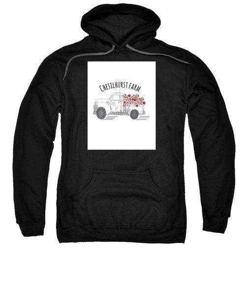 Sweatshirt featuring the drawing Chesilhurst Farm by Kim Kent
