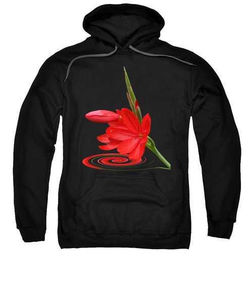 Chic - Ritzy Red Lily Sweatshirt by Gill Billington