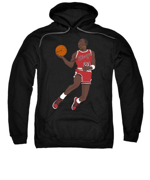 Chicago Bulls - Michael Jordan - 1985 Sweatshirt by Troy Arthur Graphics