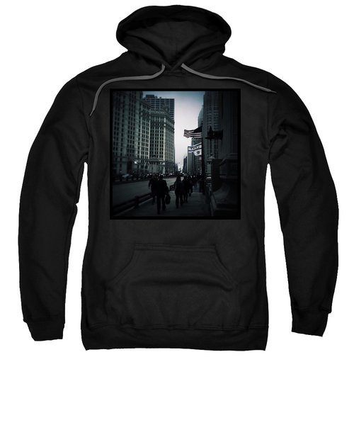Chicago City Fog Sweatshirt by Frank J Casella