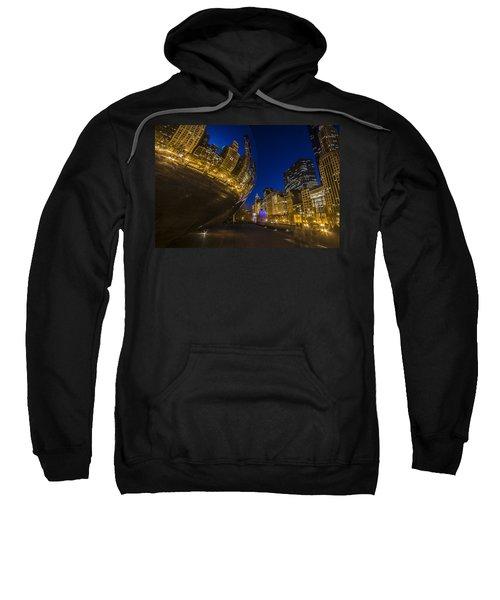 Chicago's Millenium Park At Dusk Sweatshirt