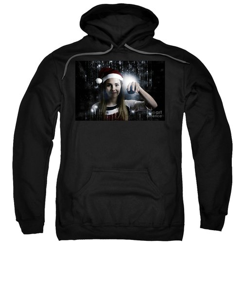 Christmas Technology Woman Shopping Online Sweatshirt
