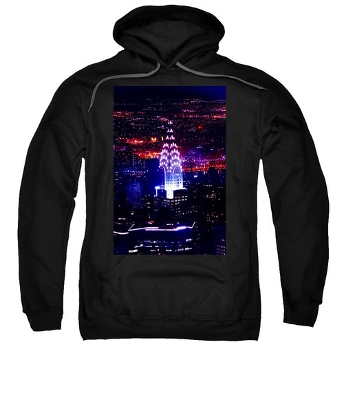 Chrysler Building At Night Sweatshirt by Az Jackson