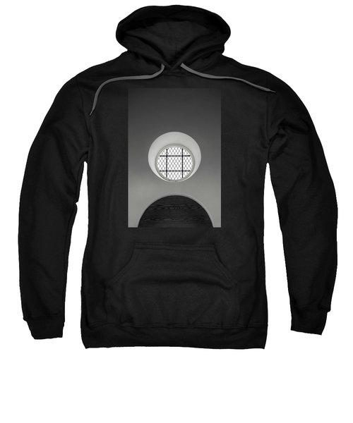 Church Window In Black And White Sweatshirt