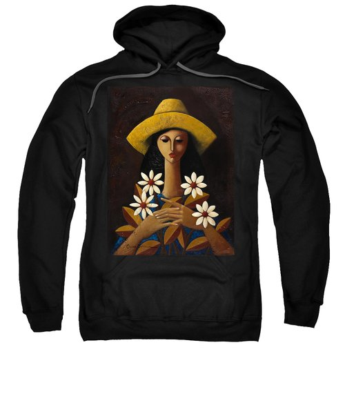 Sweatshirt featuring the painting Cinco Margaritas by Oscar Ortiz