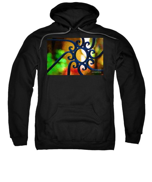 Circle Design On Iron Gate Sweatshirt