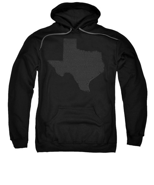 Cities And Towns In Texas White Sweatshirt by Custom Home Fashions