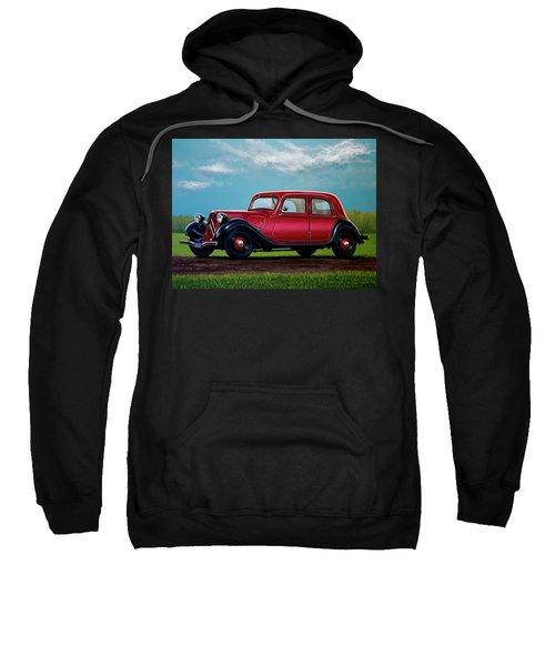 Citroen Traction Avant 1934 Painting Sweatshirt