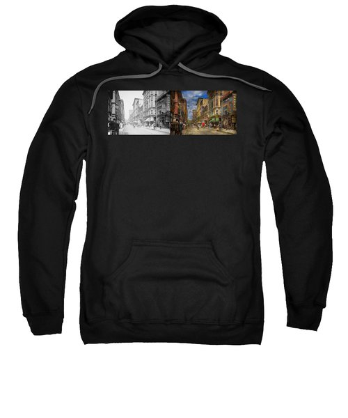 City - Providence Ri - Living In The City 1906 - Side By Side Sweatshirt