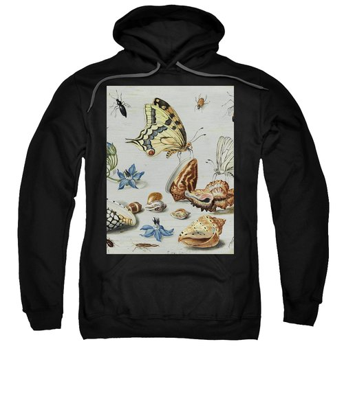 Clams, Butterflies, Flowers And Insects Sweatshirt