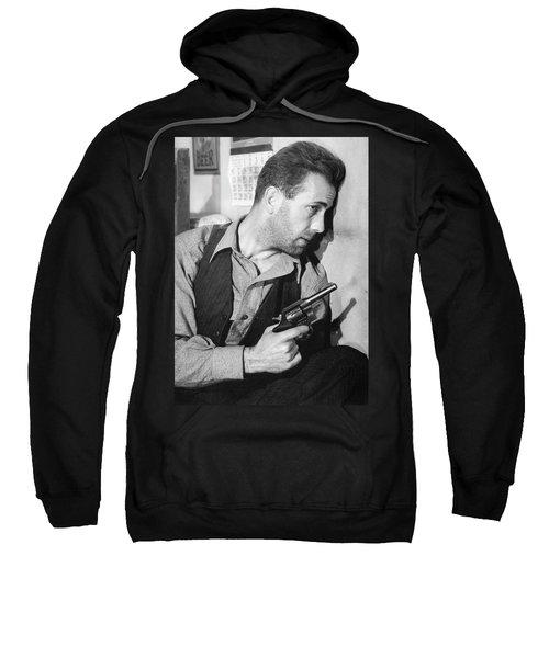 Close-up Up Of Humphrey Bogart As Duke Mantee With Gun The Petrified Forest 1936 Sweatshirt