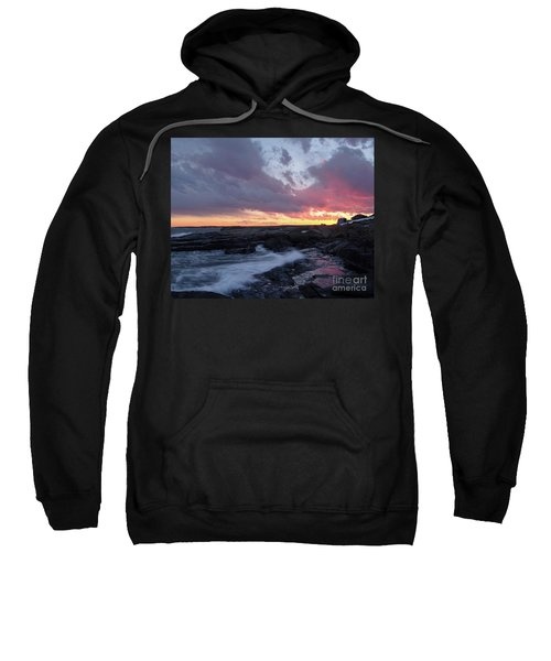 Coastal Sunset Cape Neddick - York Maine  -21056 Sweatshirt