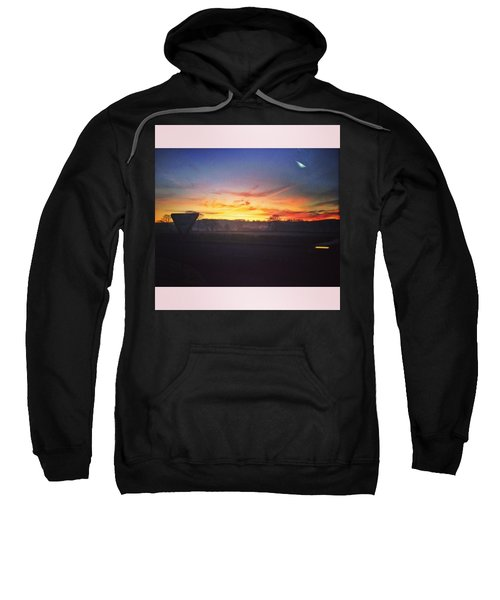 College Bus.  #sunrise #sun #wales Sweatshirt