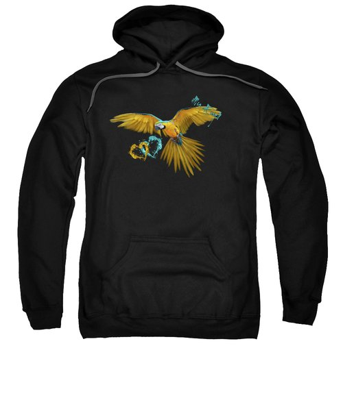 Colorful Blue And Yellow Macaw Sweatshirt by iMia dEsigN