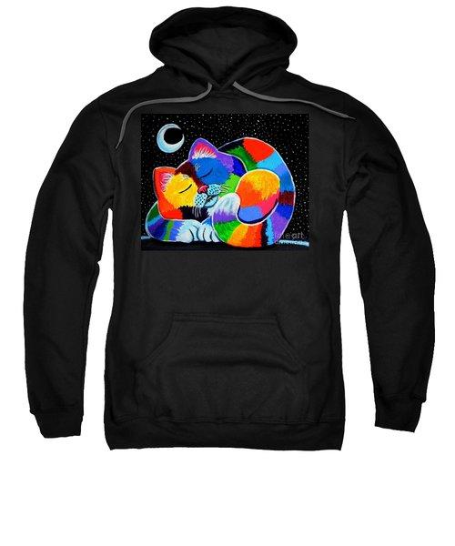 Colorful Cat In The Moonlight Sweatshirt