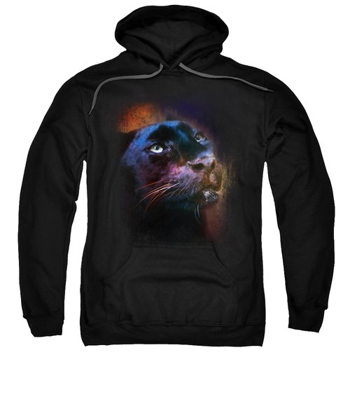 Colorful Expressions Black Leopard Sweatshirt by Jai Johnson