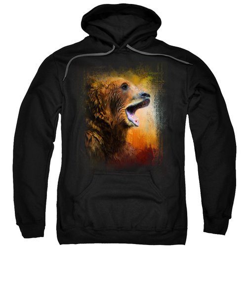 Colorful Expressions Grizzly Bear 2 Sweatshirt by Jai Johnson
