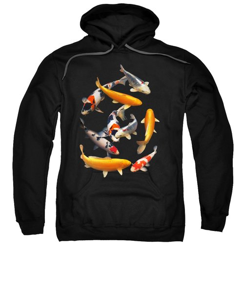 Colorful Japanese Koi Vertical Sweatshirt by Gill Billington