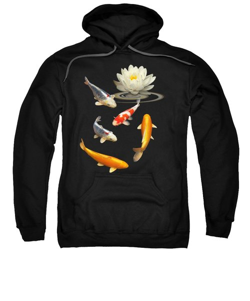Colorful Koi With Water Lily Sweatshirt