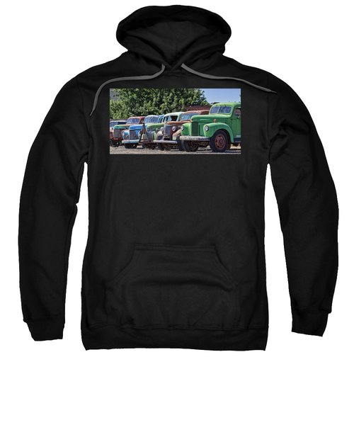 Colorful Old Rusty Cars Sweatshirt