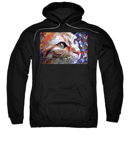 Colorful Orange Cat Art Sweatshirt