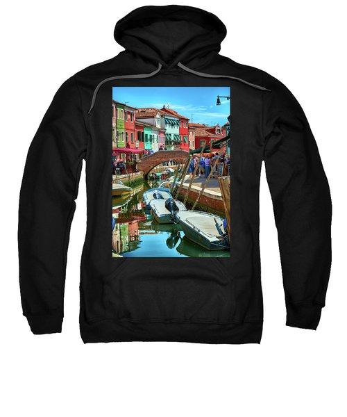 Colorful View In Burano Sweatshirt