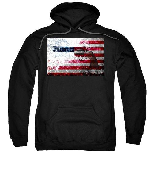 Colt Python 357 Mag On American Flag Sweatshirt