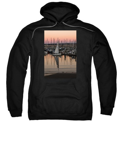 Sweatshirt featuring the photograph Coming Into The Harbor by Lora Lee Chapman