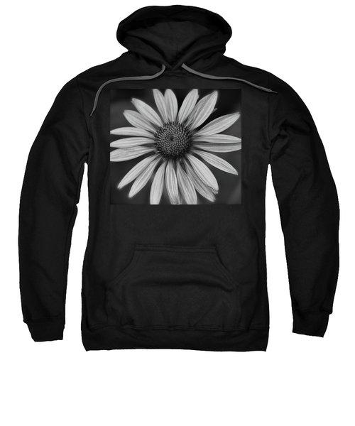 Coneflower In Black And White Sweatshirt