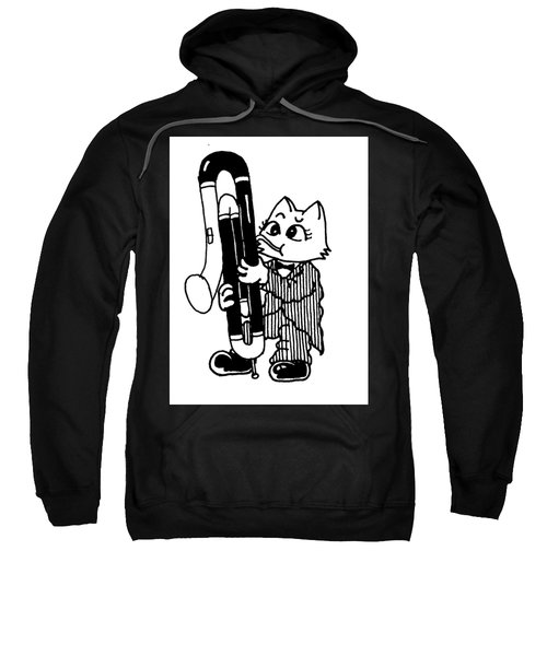 Contra Bassoon Cat Sweatshirt