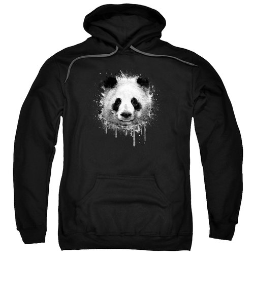 Cool Abstract Graffiti Watercolor Panda Portrait In Black And White  Sweatshirt